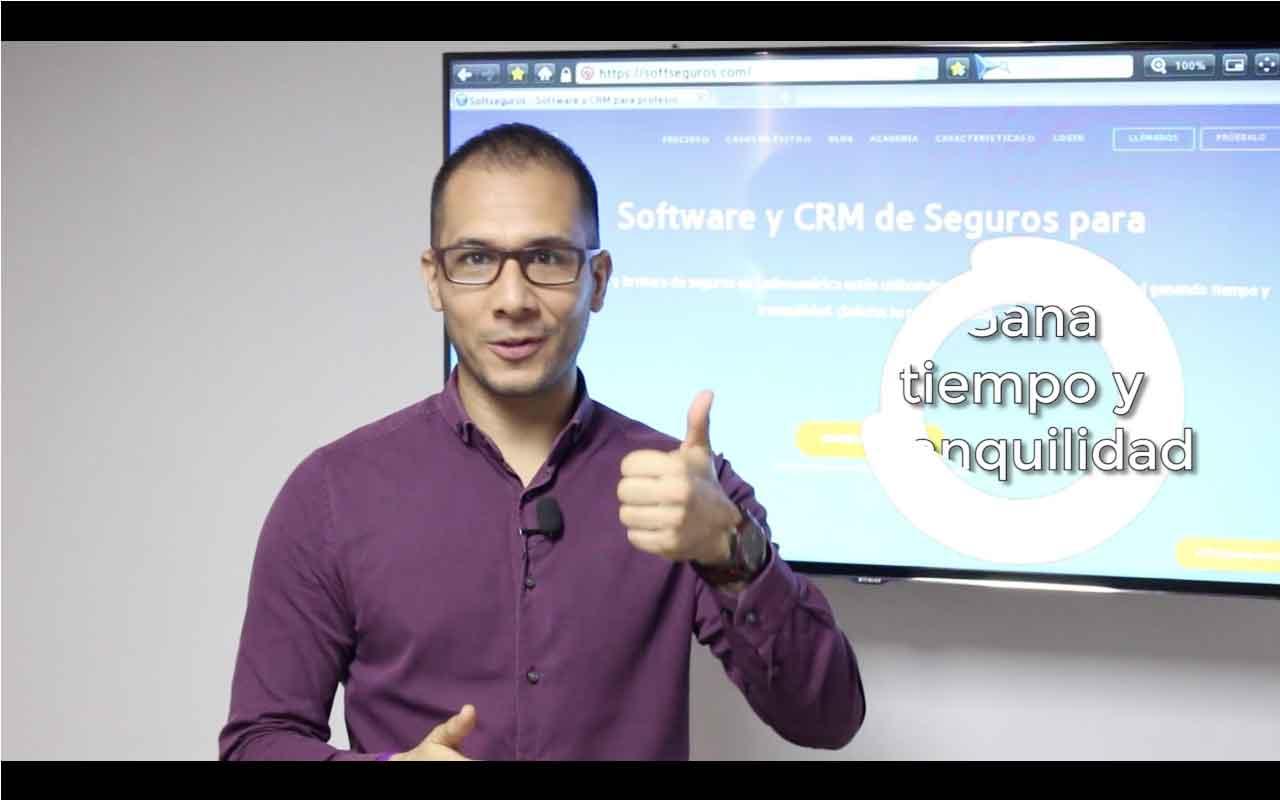 Mira el video y conoce qué es Softseguros. Software y CRM para profesionales de seguros